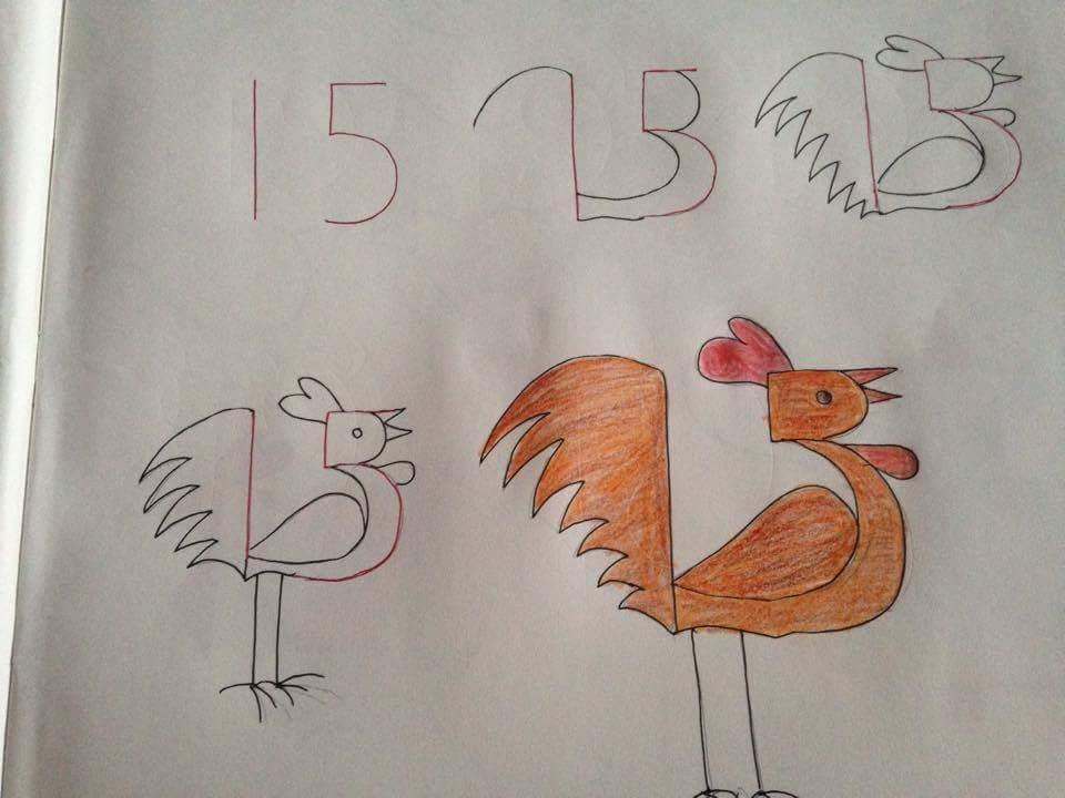 Menggambar Ayam Jantan