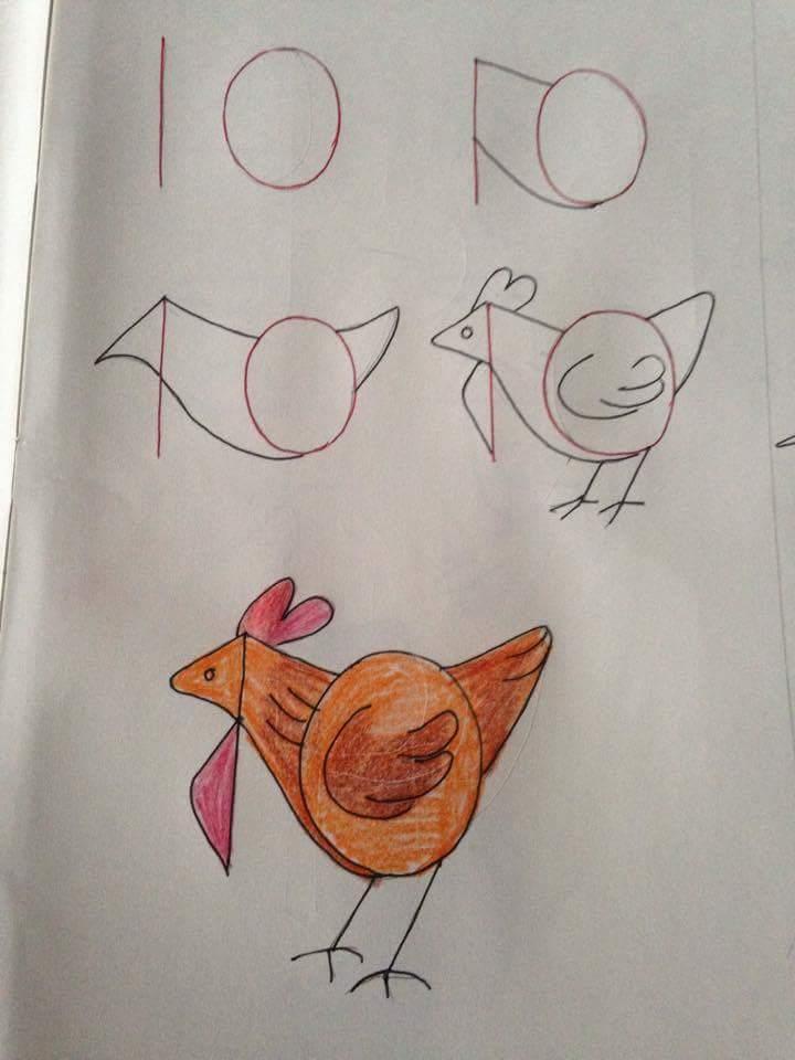 Menggambar Ayam Betina