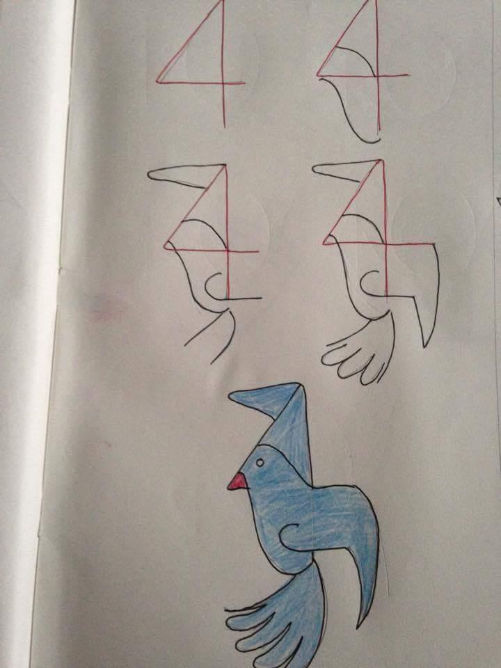 Menggambar Burung