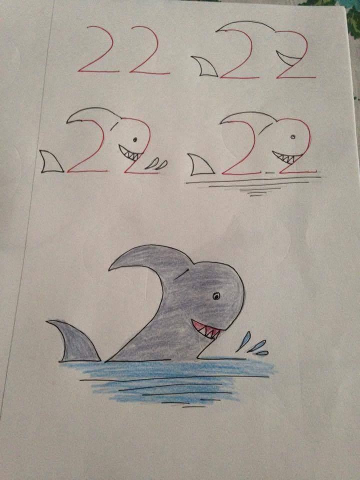 Menggambar Ikan Hiu