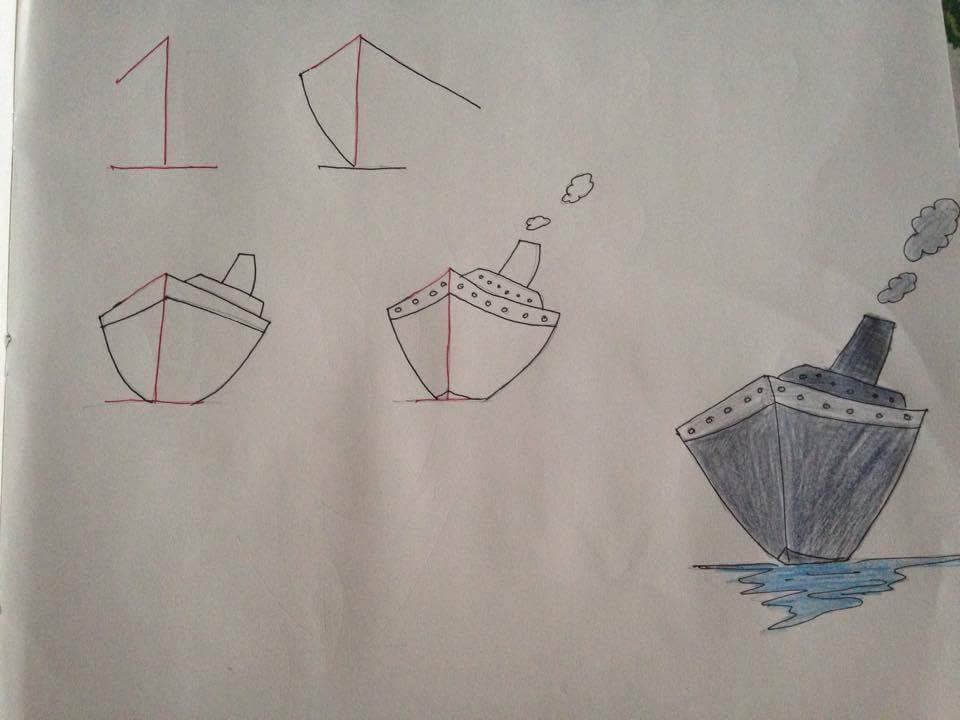 Menggambar Kapal Laut