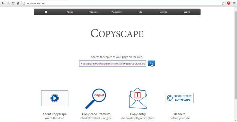 copyscape lookup