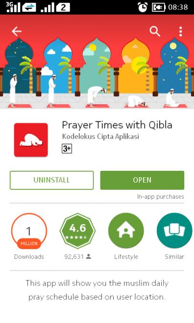 prayer times app image