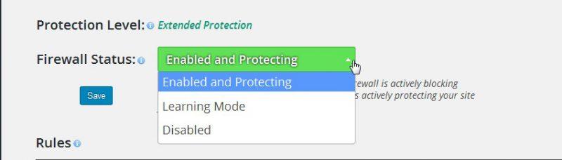 Aktifkan proteksi wordfence