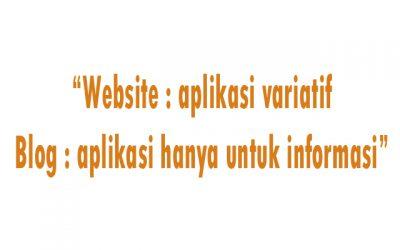 aplikasi blog dan website