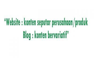 konten website dan blog