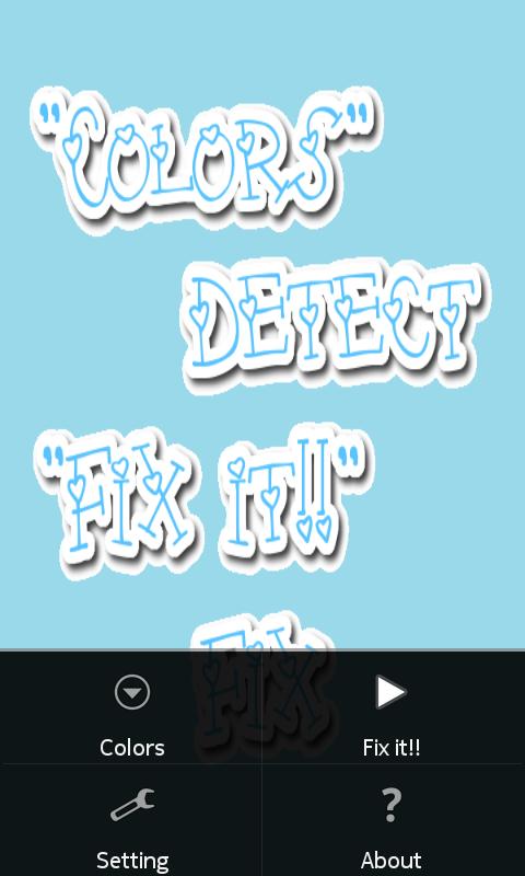 Tampilan dead pixel app image
