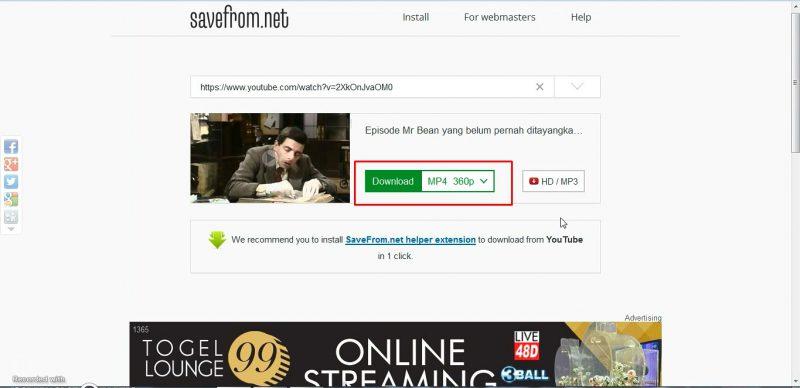 Video yang akan di download image