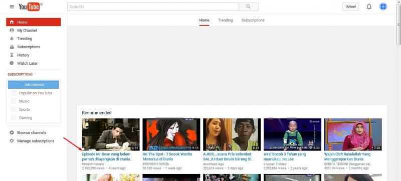 Pilih video di youtube image